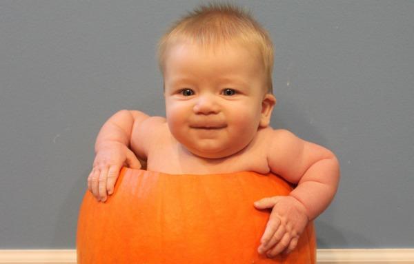 Baby in a Pumpkin